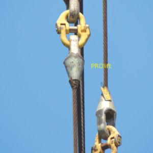 Closed Spelter Socket pt. cablu 37-39 mm
