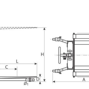 Stivuitor manual 1 to 1600mm