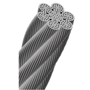 Cablu tracțiune 6×37+IWRC Zincat Gresat